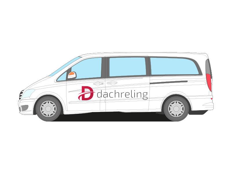mit ABE//TÜV Extralang L3H1 Dachreling für Mercedes-Benz Vito W639 Schwarz